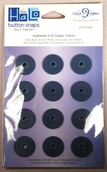 Button Snaps Twilight blue