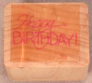 Happy Birthday (used)