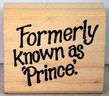Formerly known as Prince